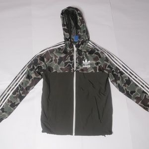 ADIDAS Camo Windbreaker Olive Golf Windbreaker